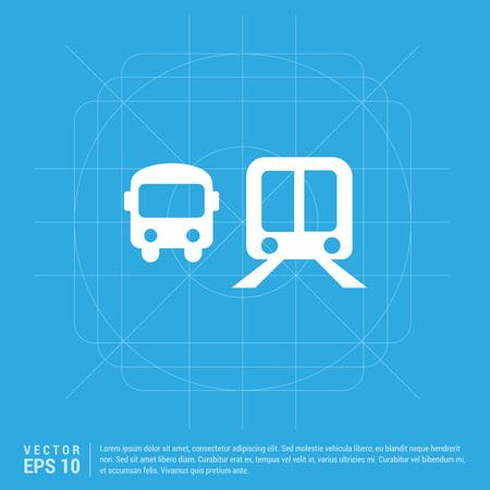 Railroad track icon