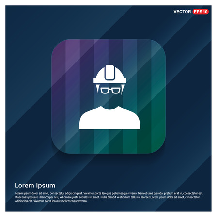 Engineer user Icon - Free vector icon