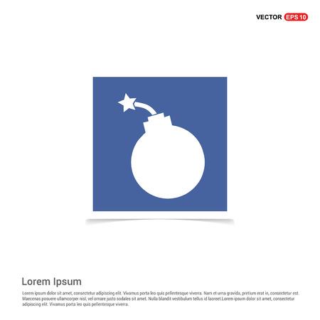 Halloween Bomb icon - Blue photo Frame