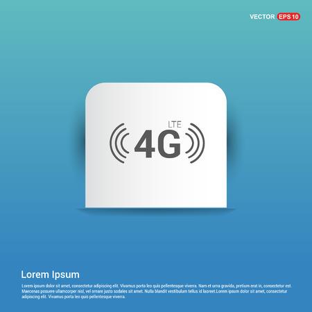 4G Icon - Blue Sticker button