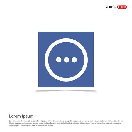 menu icon - Blue photo Frame Banque d'images - 111144343
