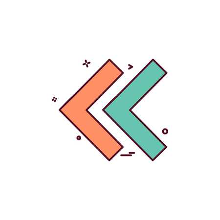 Rembobiner le vecteur de conception d'icône Vecteurs