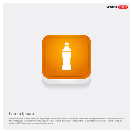 Soda drink bottle icon