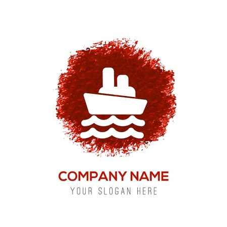 Cruise Icon - Red WaterColor Circle Splash