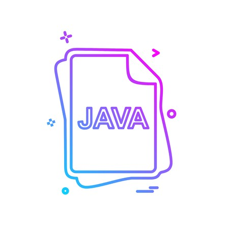 JAVA file type icon design vector Vektorové ilustrace