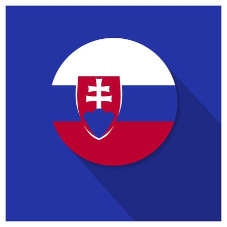 Solovakia Flag design vector Ilustracja