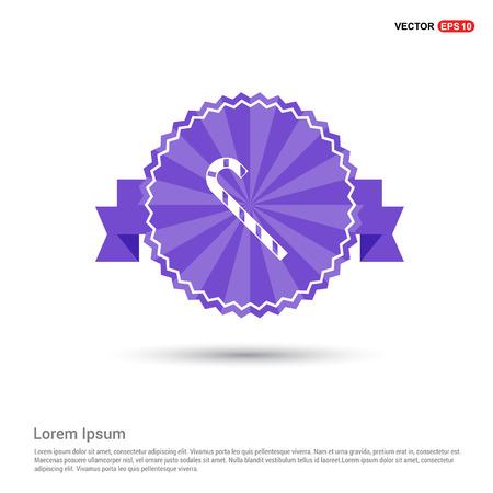 stick Icon - Purple Ribbon banner