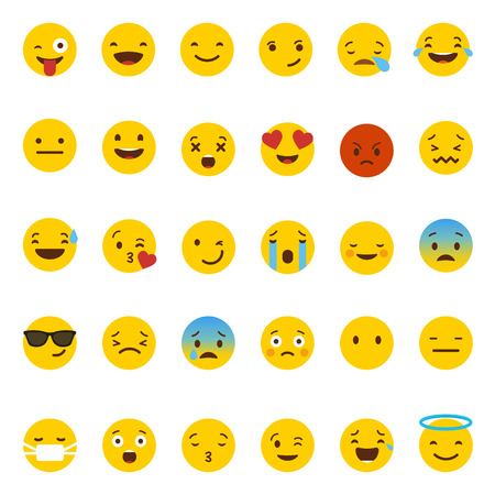 Icone Emoji set vettoriale