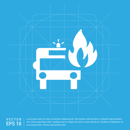 Firefighters truck icon