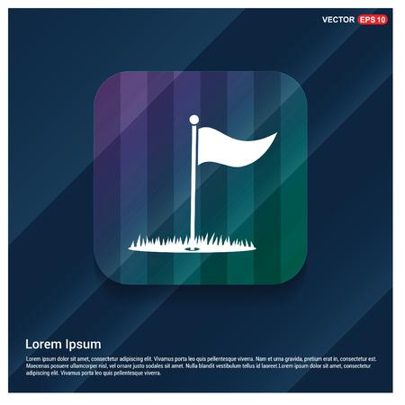 Golf Flag Icon Фото со стока - 111238681