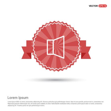 Sound volume icon - Red Ribbon banner