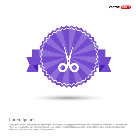 Halloween Scissors icon - Purple Ribbon banner
