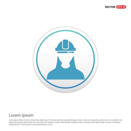 Engineer user Icon - white circle button