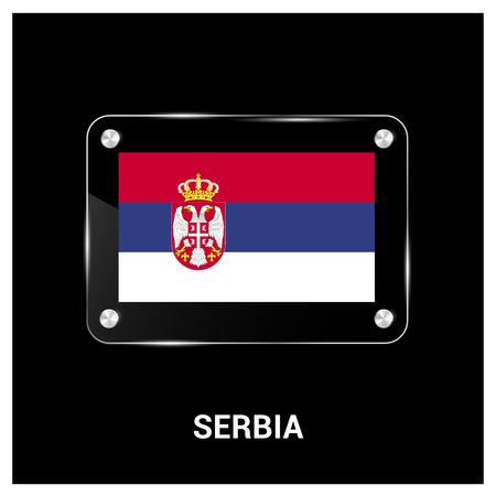 Serbia flags design card vector Illustration