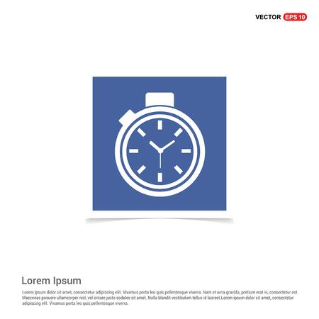 Clock Icon - Blue photo Frame