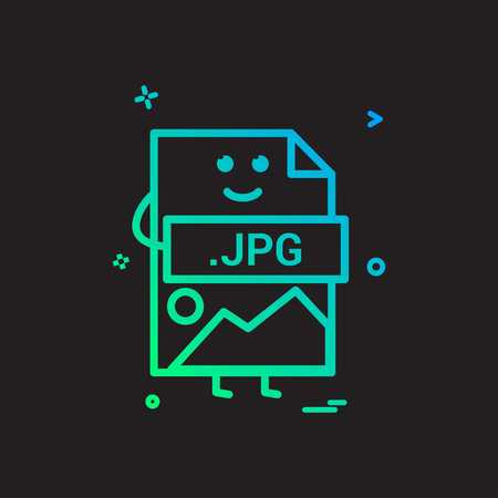 Computer jpg file format type icon vector design Vector Illustration