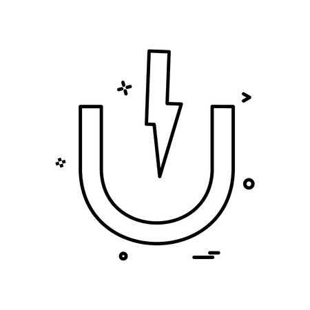 magnet  power icon vector design
