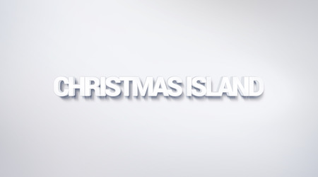 Christmas island, text design. calligraphy. Typography poster. Usable as Wallpaper background