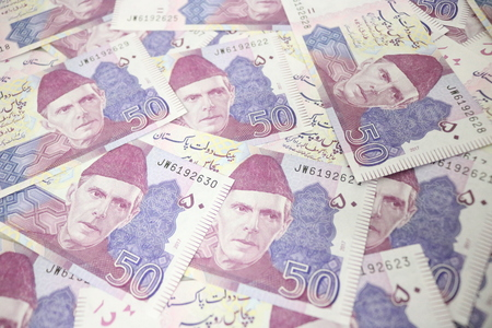50 rupees Pakistani currency note Stock fotó