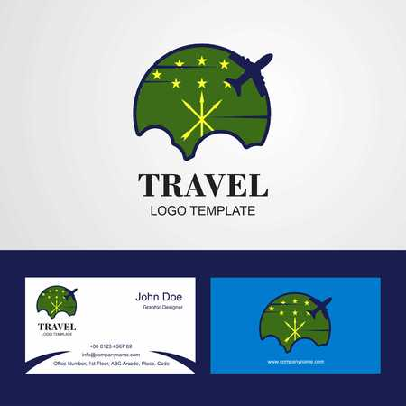 Travel Adygea Flag Logo and Visiting Card Design Ilustrace