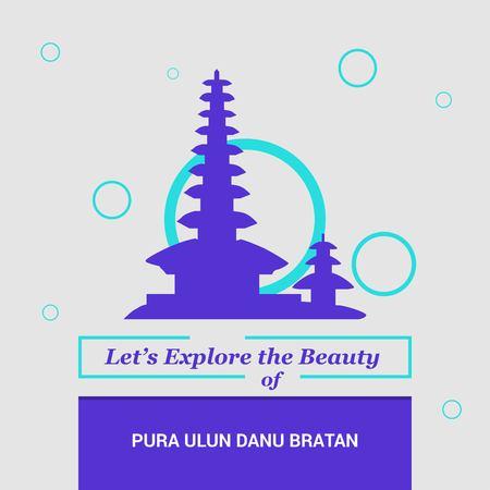 Lets Explore the beauty of Pura Ulun bratan Bali island, Indonesia National Landmarks