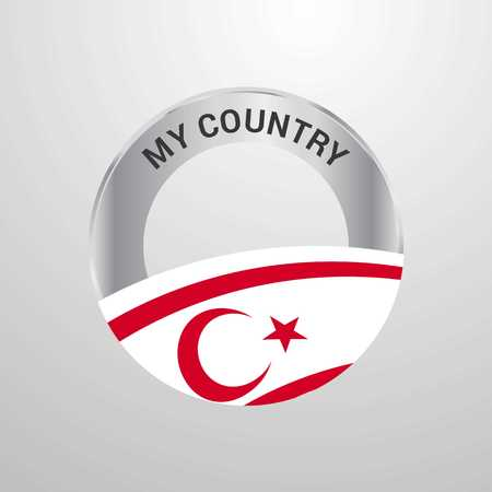 Northern Cyprus My Country Flag badge