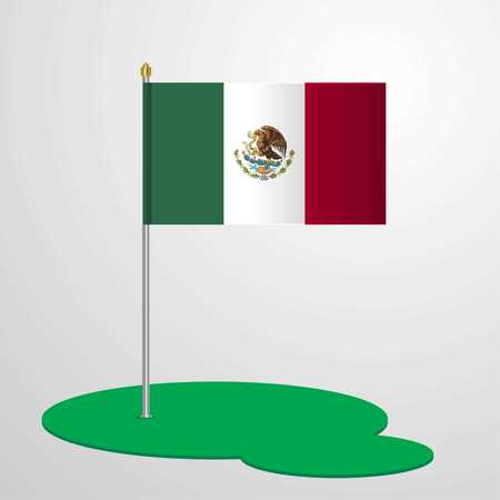 Mexico Flag Pole