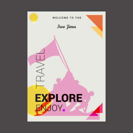 Welcome to The Iwo Jima, USA Explore, Travel Enjoy Poster Template