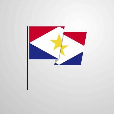 saba waving Flag design vector