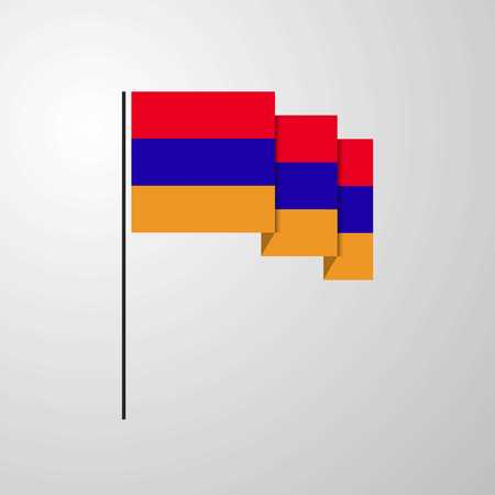 Armenia waving Flag creative background