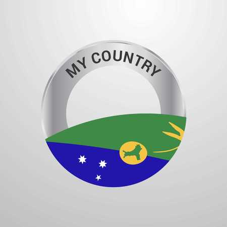 Christmas island My Country Flag badge