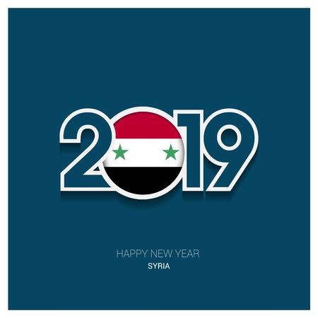 2019 Syria Typography, Happy New Year Background