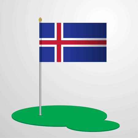 Iceland Flag Pole