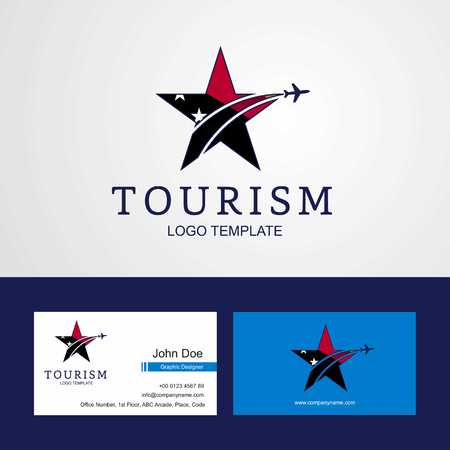 Travel Papua New Guinea flag Creative Star Logo and Business card design Illustration