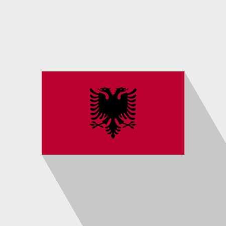 Albania flag Long Shadow design vector Vektorové ilustrace