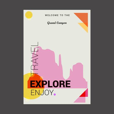 Welcome to The Grand Canyon Arizona, United States Explore, Travel Enjoy Poster Template