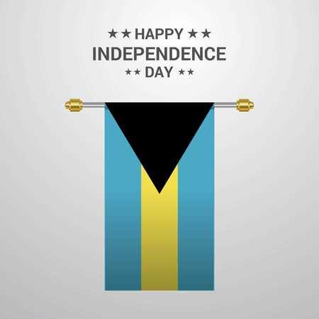 Bahamas Independence day hanging flag background