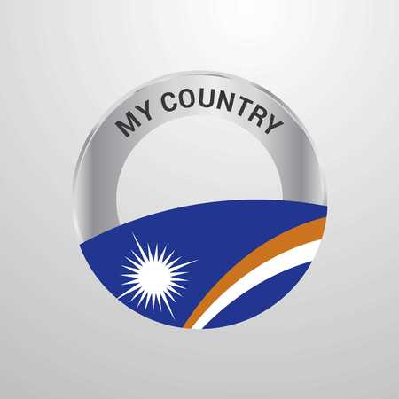 Marshall Islands My Country Flag badge Çizim