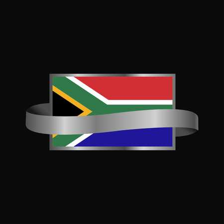 South Africa flag Ribbon banner design