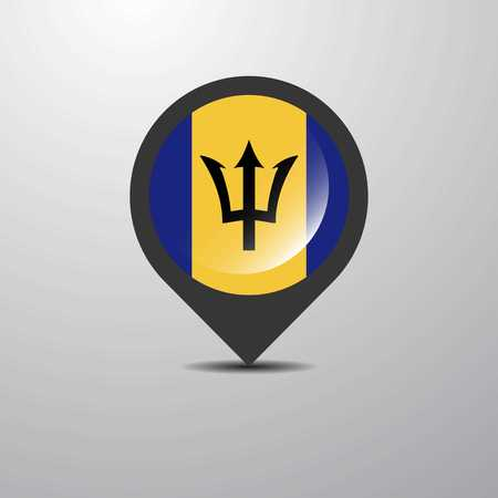 Barbados Map Pin Illustration