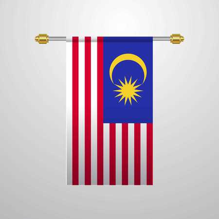 Malaysia hanging Flag Illustration