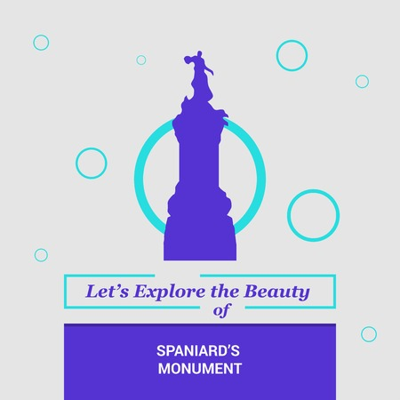 Lets Explore the beauty of Spaniards Monument Buenos Aires, Argentina National Landmarks Illustration