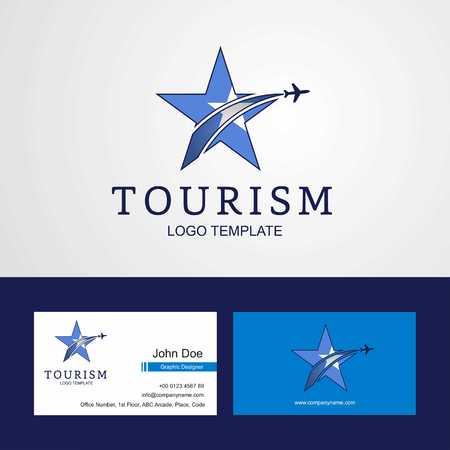 Travel Somalia flag Creative Star Logo and Business card design Çizim