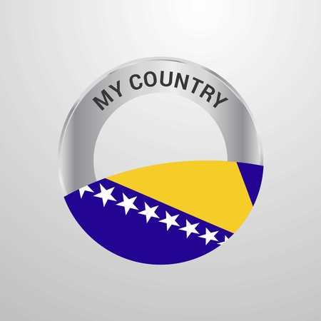 Bosnia and Herzegovina My Country Flag badge