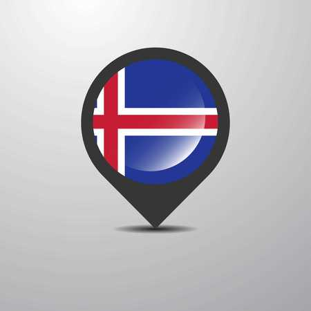 Iceland Map Pin