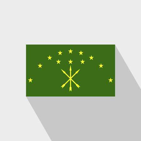 Adygea flag Long Shadow design vector