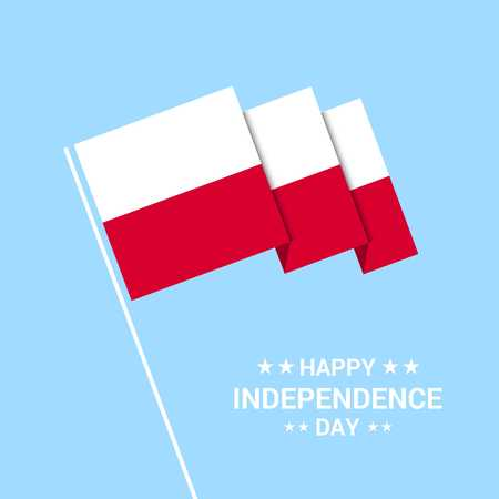 Poland Independence day typographic design with flag vector