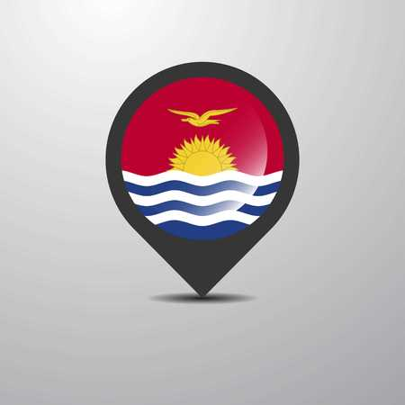 Kiribati Map Pin