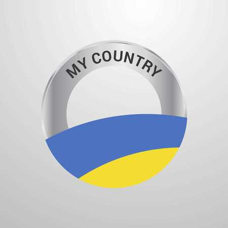Ukraine My Country Flag badge