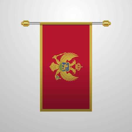 Montenegro hanging Flag